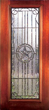 Stained glass windows, Beveled glass doors, Leaded glass doors, Exterior Doors - Austin