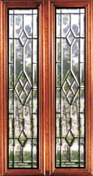 Beveled Glass Inserts - Honolulu